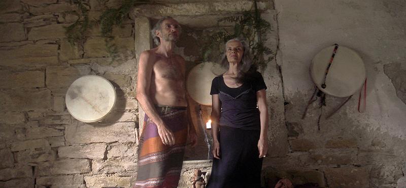 Sam und Rene in der Kapelle in La Canova